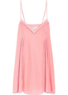 Elizabeth And James Woman Idris Pointelle-trimmed Silk-organza Mini Slip Dress Pastel Pink