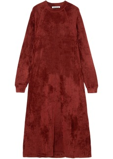 Elizabeth And James Woman Lafayette Crushed-velvet Midi Dress Claret