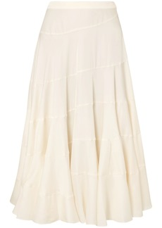 Elizabeth And James Woman Lasse Satin-twill Midi Skirt Cream