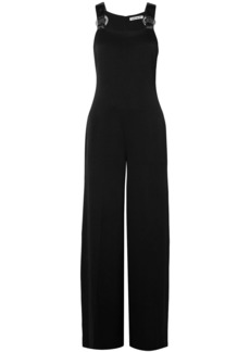 Elizabeth And James Woman Loordes Embellished Satin-trimmed Cady Jumpsuit Black