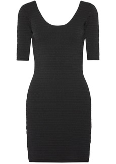 Elizabeth And James Woman Lydia Textured Stretch-ponte Mini Dress Black
