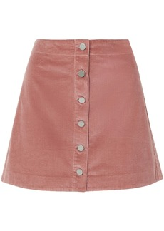 Elizabeth And James Woman Prewitt Cotton-corduroy Mini Skirt Antique Rose