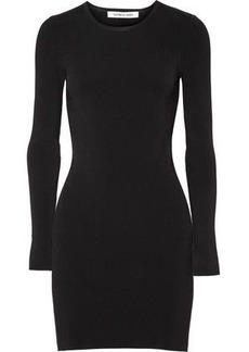 Elizabeth And James Woman Priscilla Cutout Ribbed Stretch-knit Mini Dress Black