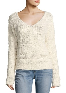 Elizabeth and James Wyatt Open V-Neck Pullover Sweater