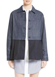 Elizabeth and James York Denim Jacket with Removable Peplum