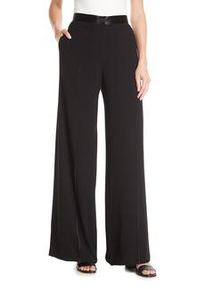 Yuli High-Waisted Pants w/Contrast Stitching