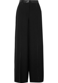 Elizabeth and James Yuli Satin-trimmed Crepe Wide-leg Pants
