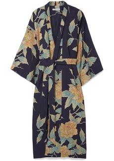 Zoe floral-print twill jacket