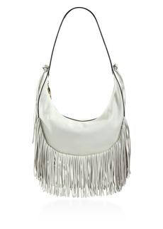 Elizabeth and James Zoe Fringed Leather Hobo Bag
