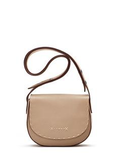 Elizabeth and James Zoe Mini Leather Saddle Bag