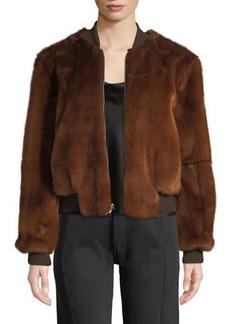 Elizabeth and James Ellington Faux-Fur Bomber Jacket