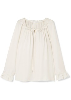 Elizabeth and James Fleur Ruffled Cady Blouse