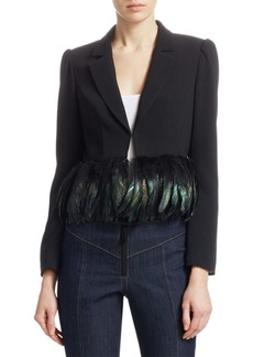 Cinq a Sept Helen Feather-Hem Blazer