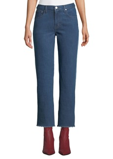 Elizabeth and James Holden Contrast-Back Straight-Leg Jeans