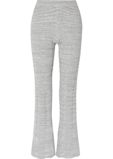 Elizabeth and James Joan Ribbed Cotton-blend Flared Pants