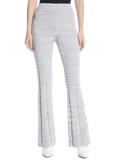 Elizabeth and James Joan Slim Flare Rib-Knit Pants