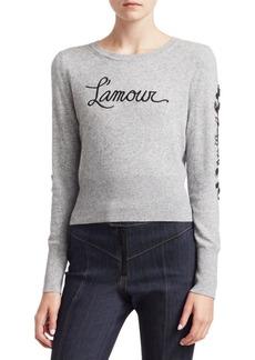 Elizabeth and James Kian L'Amour Embellished Wool-Blend Knit Sweater