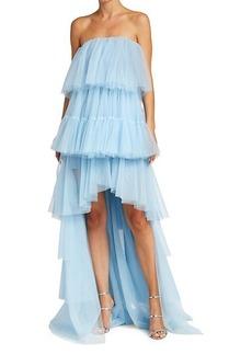 Elizabeth and James Kiara Tiered High-Low Dress