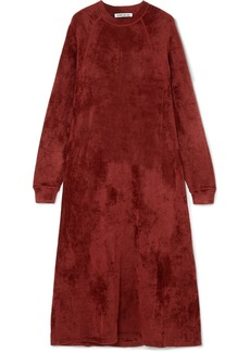 Elizabeth and James Lafayette Crushed-velvet Midi Dress