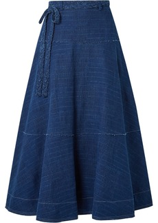 Elizabeth and James Leila Slub Denim Maxi Skirt