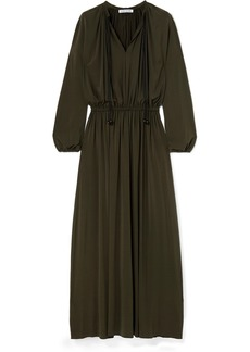 Elizabeth and James Luna Gathered Stretch-jersey Maxi Dress