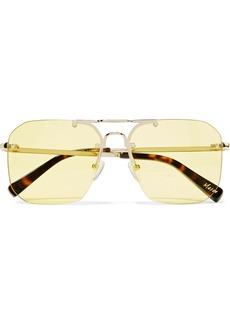 Elizabeth and James Mason square-frame pale gold-tone sunglasses
