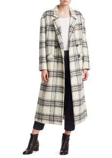 Elizabeth and James Maya Plaid Wool-Blend Boxy Coat
