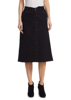 Elizabeth and James Merritt Belted Denim Skirt