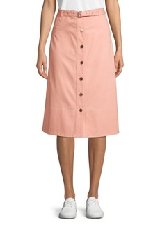 Elizabeth and James Merritt Button Front Midi Skirt