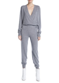 Elizabeth and James Norica Long-Sleeve Cashmere Jumpsuit