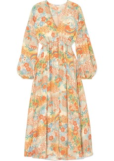 Elizabeth and James Norma Printed Silk Maxi Dress