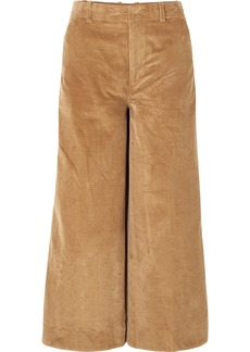 Elizabeth and James Oakley Cropped Cotton-corduroy Wide-leg Pants