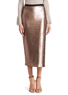 Elizabeth and James Paula Sequined Midi Skirt