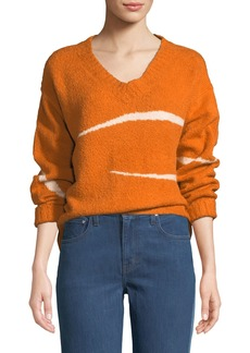 Elizabeth and James Pemba Abstract Striped Intarsia Sweater