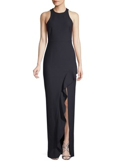 Elizabeth and James Piper Ruffle-Trimmed Gown