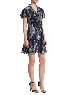 Elizabeth and James Quincy Floral Silk Shirtdress