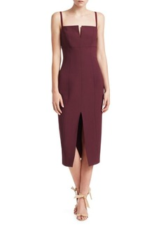 Elizabeth and James Saorise Front Slit Midi Dress