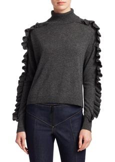 Elizabeth and James Savanna Cashmere Ruffle Turtleneck Sweater