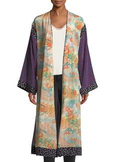 Elizabeth and James Shawna Floral Patchwork Kimono Robe