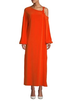 Elizabeth and James Shontae Knot Crepe Maxi Dress