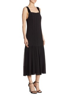 Elizabeth and James Silk Sabella Pintuck Dress