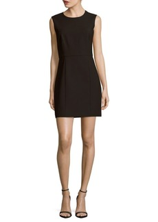 Elizabeth and James Solid Back-Cutout Sleeveless Dress