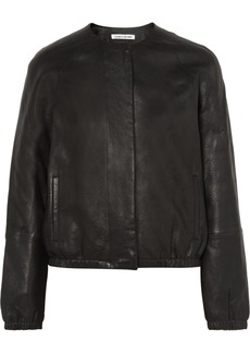 Elizabeth and James Tinley Textured-leather Bomber Jacket
