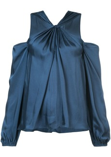 Elizabeth and James twist halterneck off the shoulder blouse
