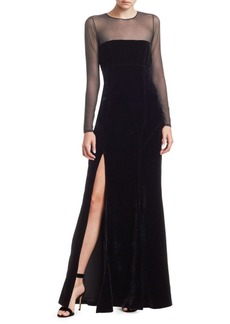 Elizabeth and James Velvet Mesh Gown