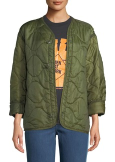 Elizabeth and James Vintage One-of-a-Kind Military Liner Jacket