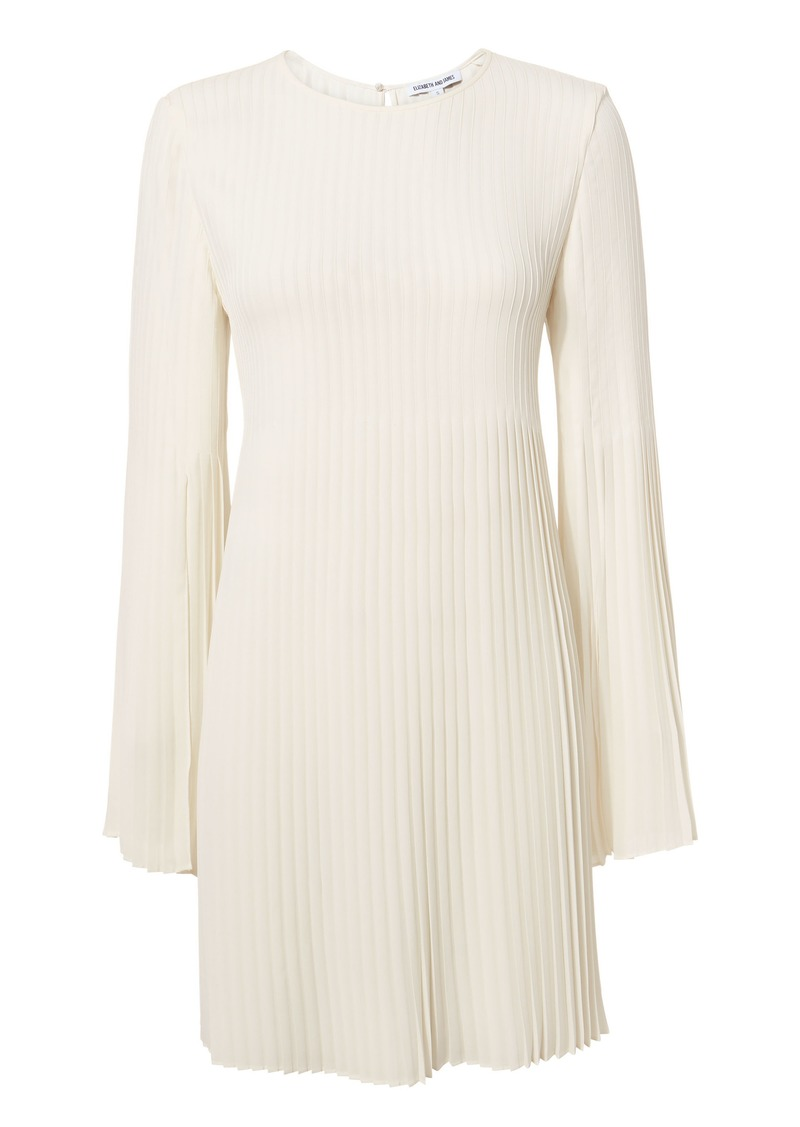 Elizabeth and James Violetta Pleated Cape Mini Dress