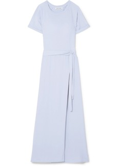 Elizabeth and James Welles Belted Cotton-jersey Maxi Dress
