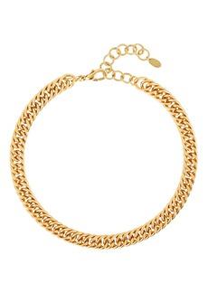 Elizabeth Cole Adia Fishtail Chain-Link Necklace