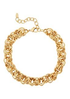 Elizabeth Cole Adler Multi Circle Link Necklace